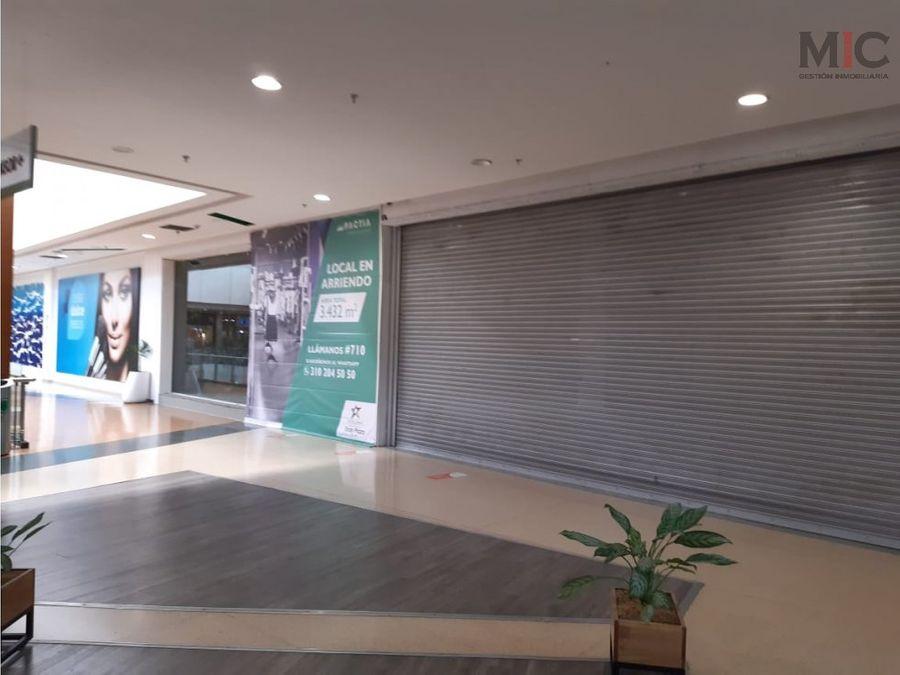 se arrienda local corporativo en centro comercial gran plaza del sol