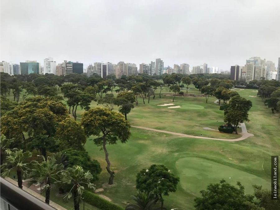 departamento en alquiler en san isidro vista al golf