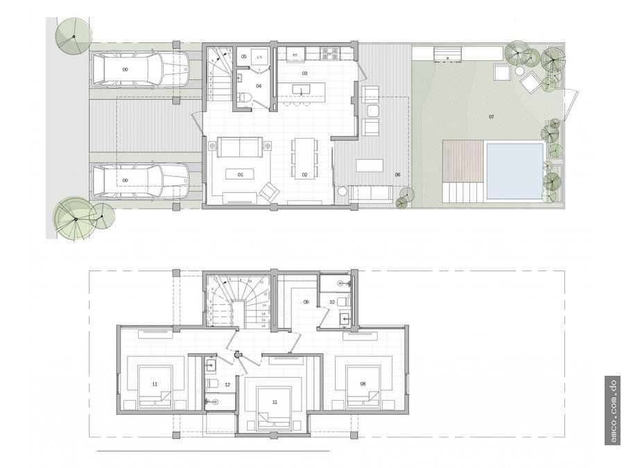 casas 2 y 3 habitaciones en bavaro punta cana