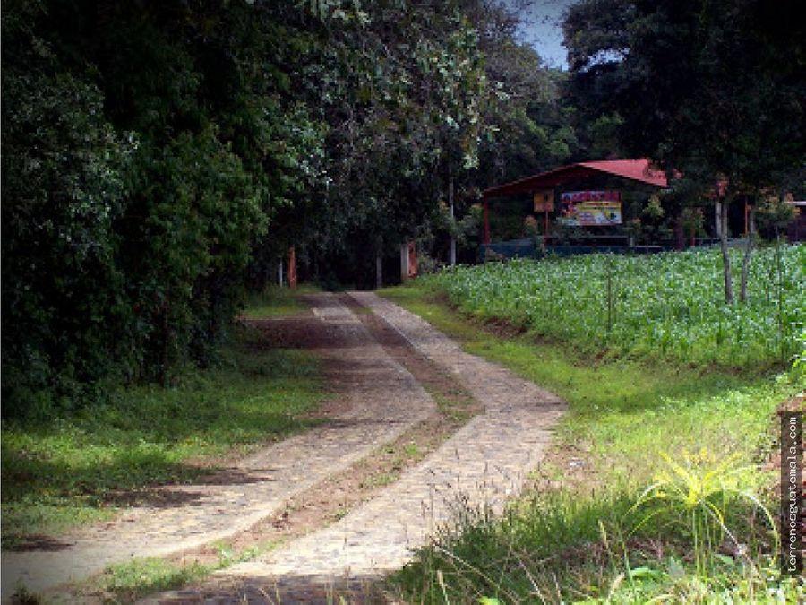 vendo terreno bonito en san juan sacatepequez