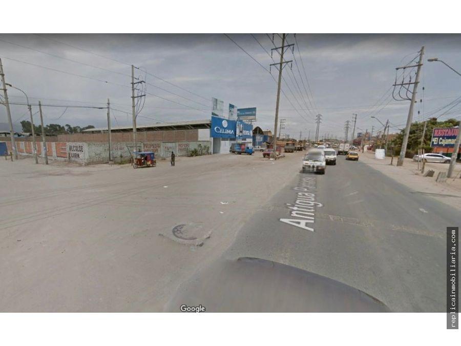terreno comercial esquina 2536 m2 antigua panamericana sur pachacamac