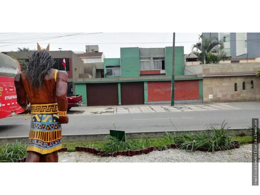 bajo casa en venta caminos del inca surco