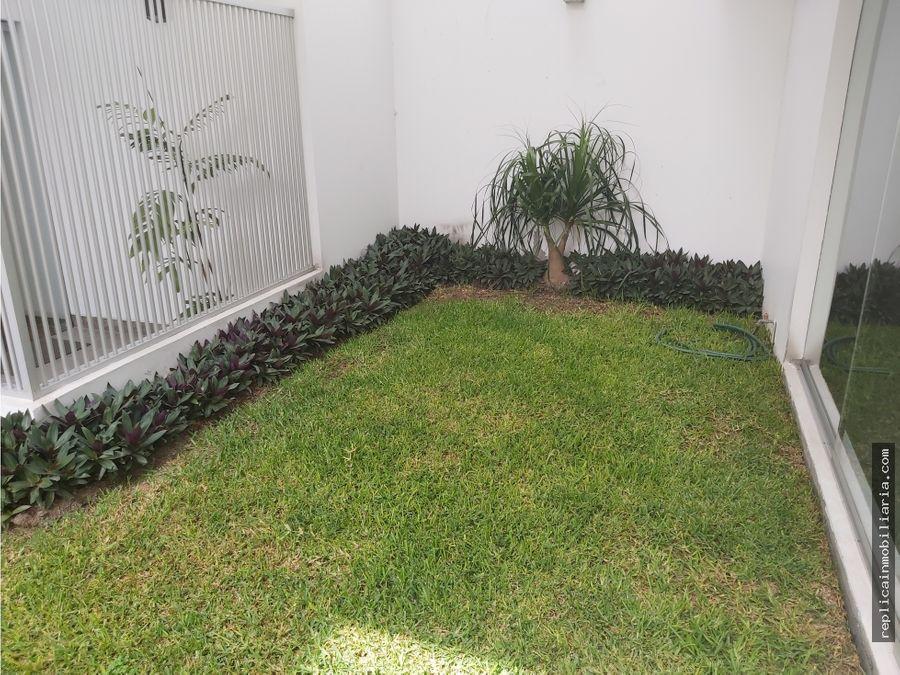 alquiler flat de 2 dormitorios 80 m2 jr teruel miraflores lima