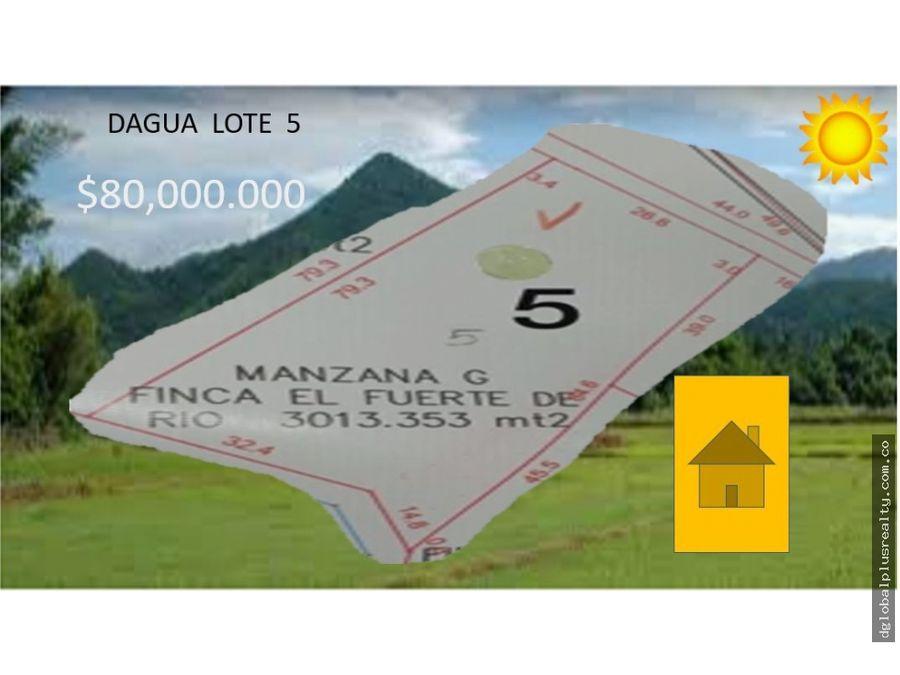 dagua lote 5 3013353m2 proyecto urbanizado excelente oportunidad
