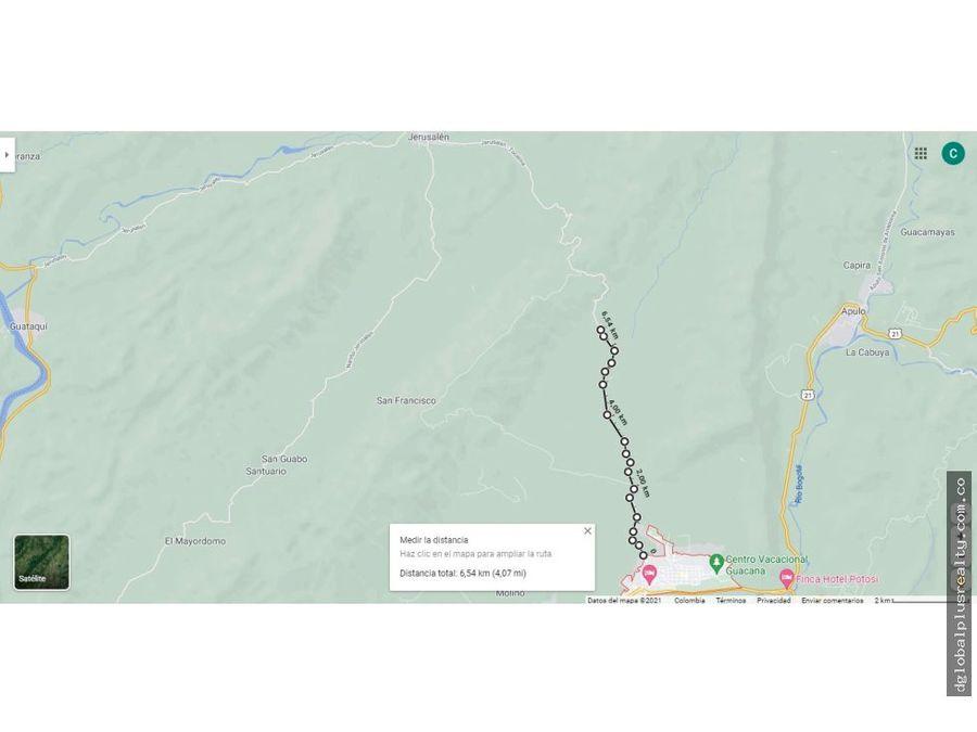 tocaima cundinamarca vereda santa rosa via a jerusalem 65 km