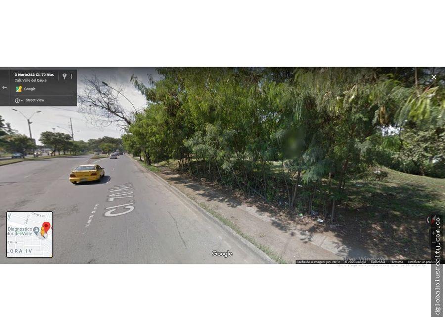 lote de 2250 m2 sobre la calle 70n con avenida 3n cali mejor 1 o 12