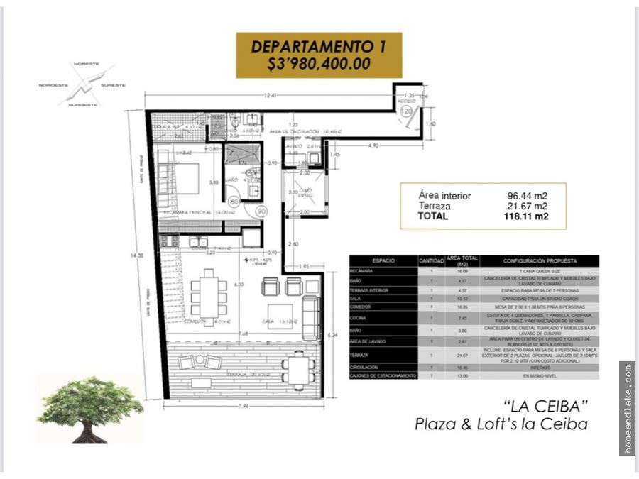 loft 1 plaza la ceiba