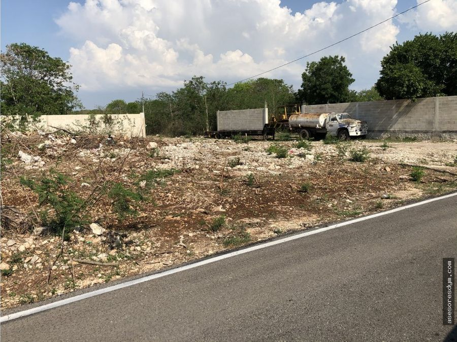 terreno en venta en chalmuch yucatan