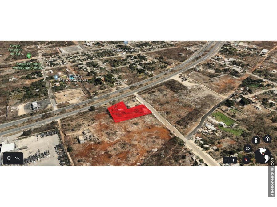 venta terreno sobre periferico de merida yucatan