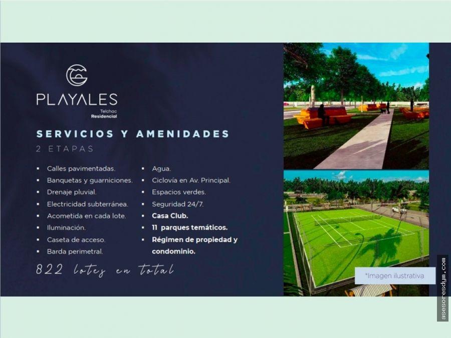 venta de terrenos residenciales playales en telchac