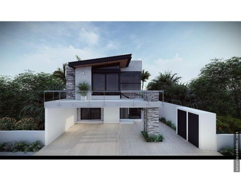 exclusiva casa en construccion coto residencial en marina mazatlan