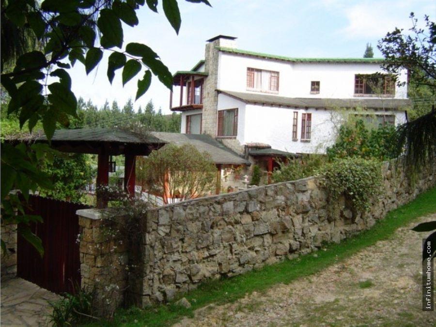 amplia casa campestre conjunto cerrado la calera