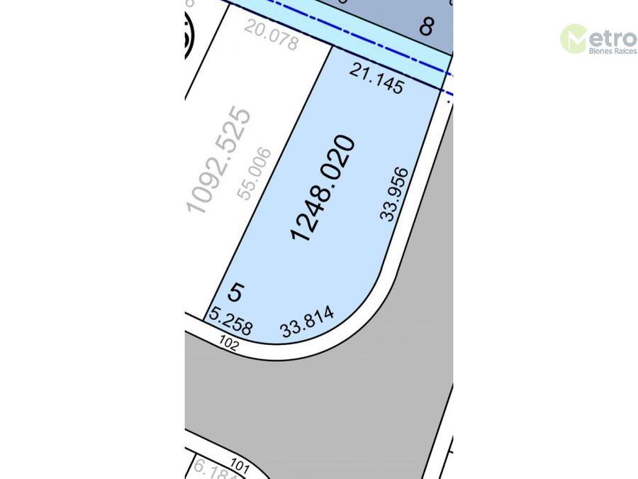 terreno en venta dentro de parque industrial 1248 mts2