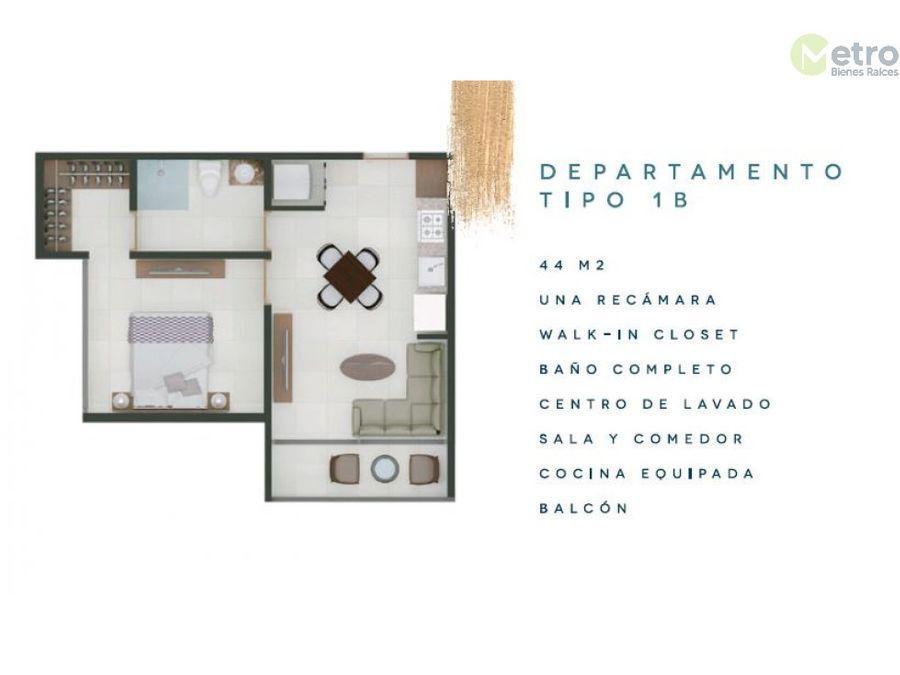 departamentos en preventa centro de cozumel 1b avc