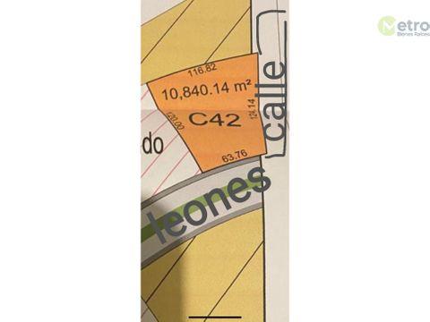 terreno en venta x av paseo de los leones 10841 m 2 precio x m 2 7000