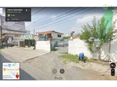 terreno en renta x simon bolivar 360 m 2 a unos pasos de la rotonda
