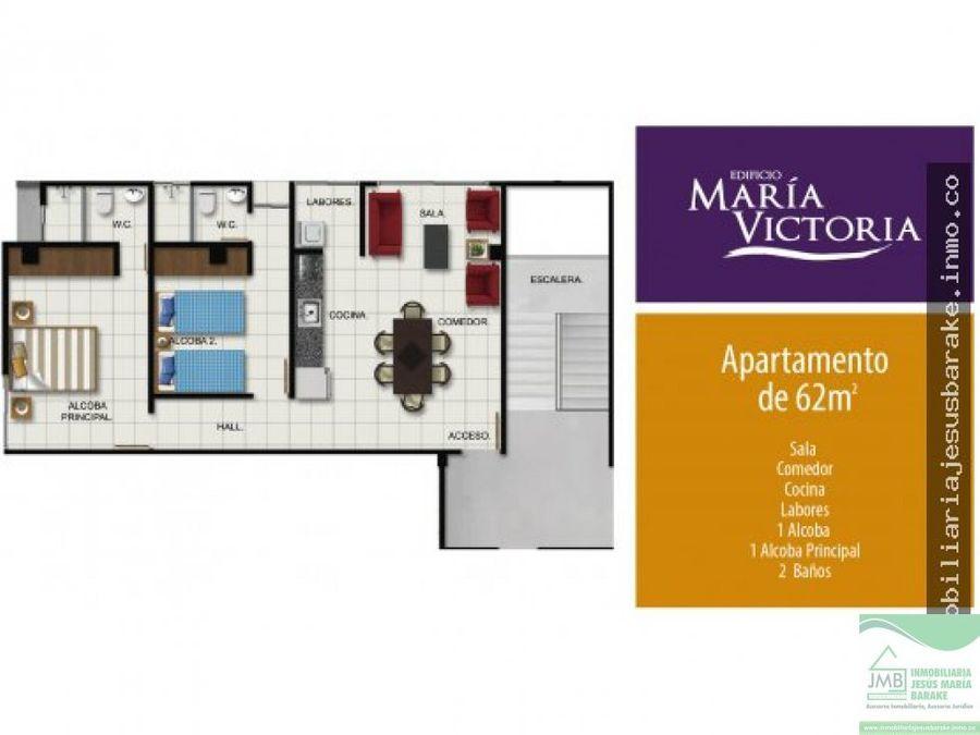 apartamento en venta y arriendo en el edificio maria victoria