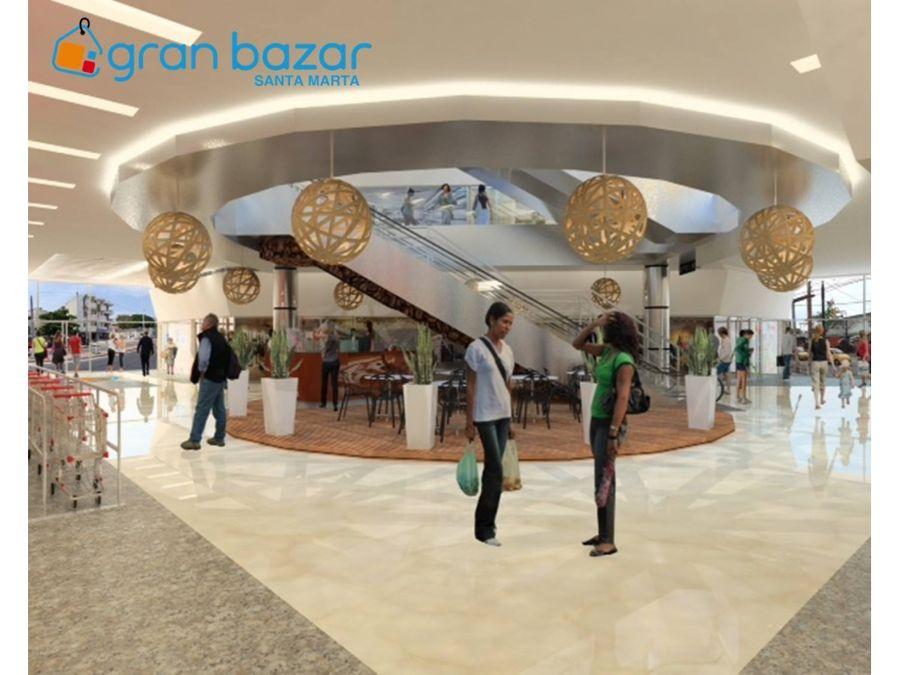 hermoso local en venta en el centro comercial gran bazar santa marta