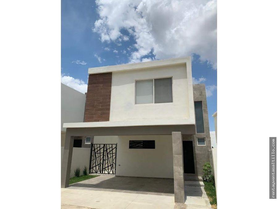 renta casa nueva saltillofracc lenna 13000