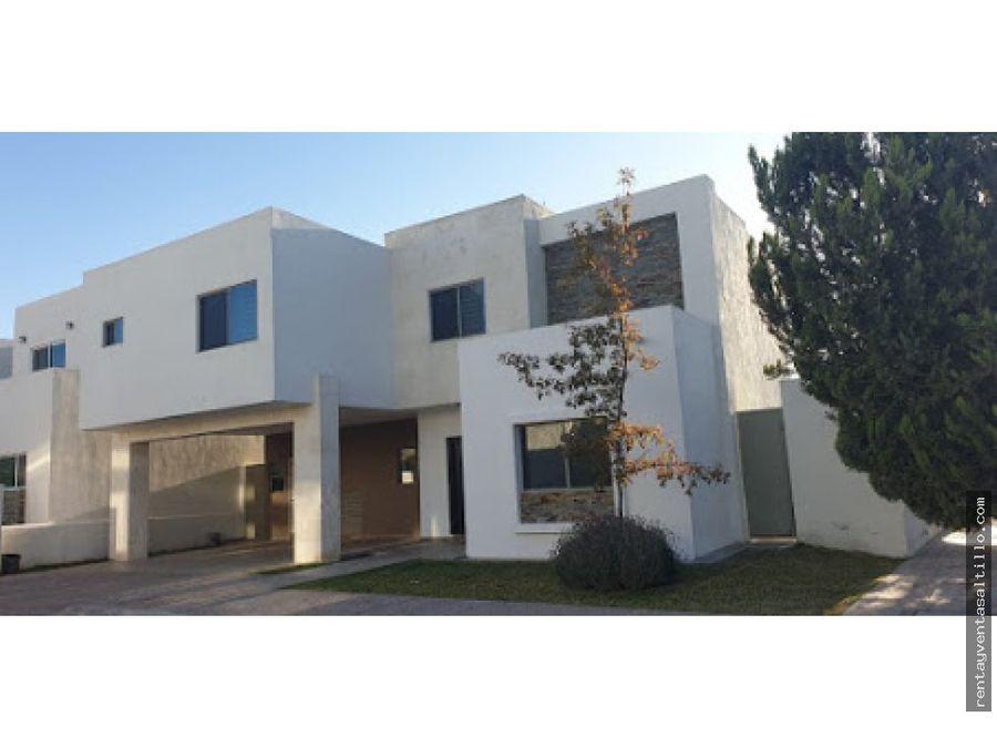 renta casa en ramos arizpe amueblada misiones 2 28000