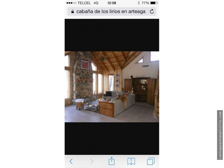 venta cabana los lirios arteaga