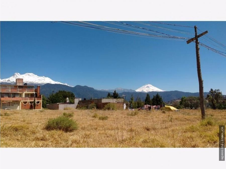 tlalmanalco edo mexico terreno vista panoramica