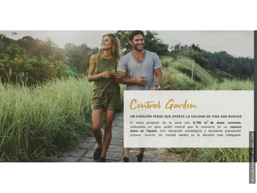 venta de condominio a credito en en central garden tijuana