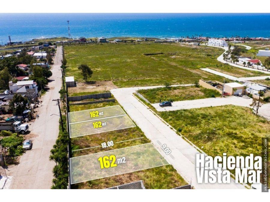venta de terreno con vista al mar en puerto nuevo rosarito