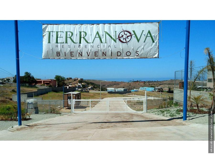 venta de terrenos en pagos en residencial terranova rosarito
