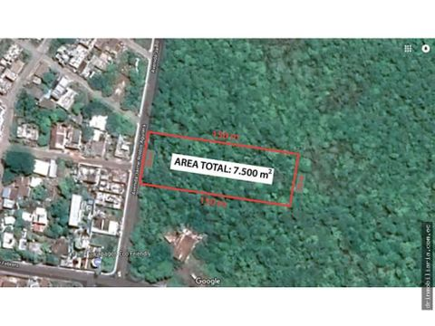 venta terreno galapagos 7500 m2