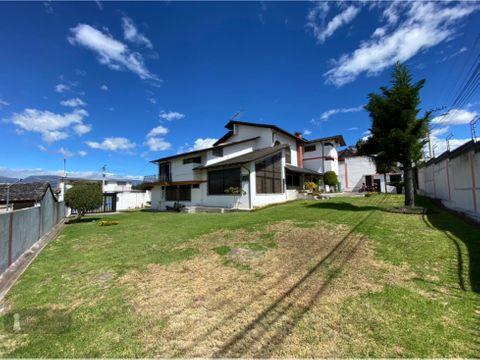 venta casa y terreno cumbaya independiente comercial