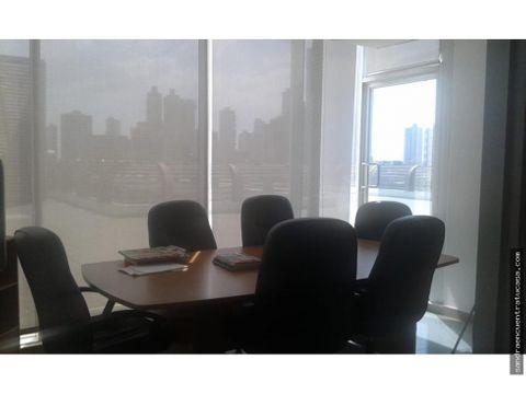 vendo elegante oficina en torre global bank de 90 mtrs