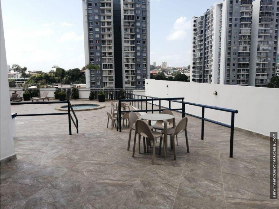 apartamento en alquiler en edificio metro view hato pintado