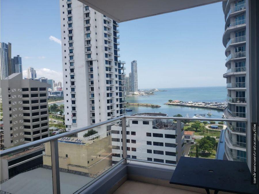 vista balboa alquiler 2 recamaras amoblado o lb balcon vista al mar