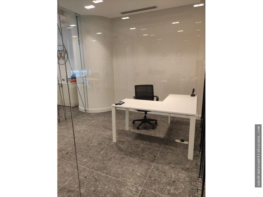 alquiler oficina ph time square 112 mts amoblado divisiones