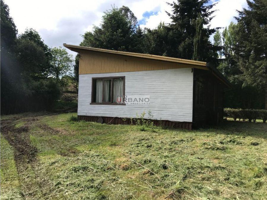 campo parcela con casa en ix region