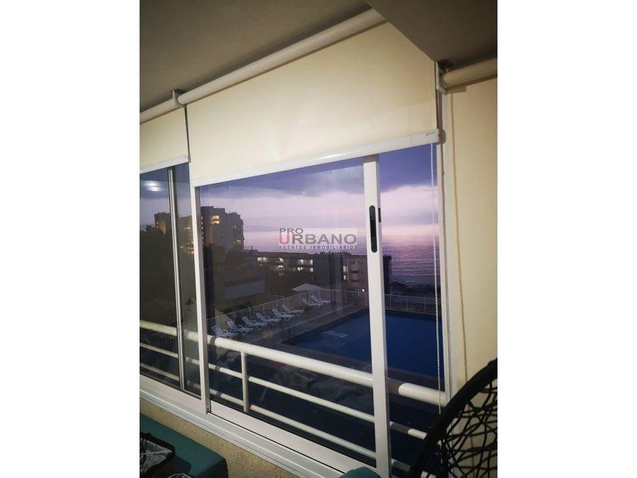 acogedor departamento con vista al mar en renaca