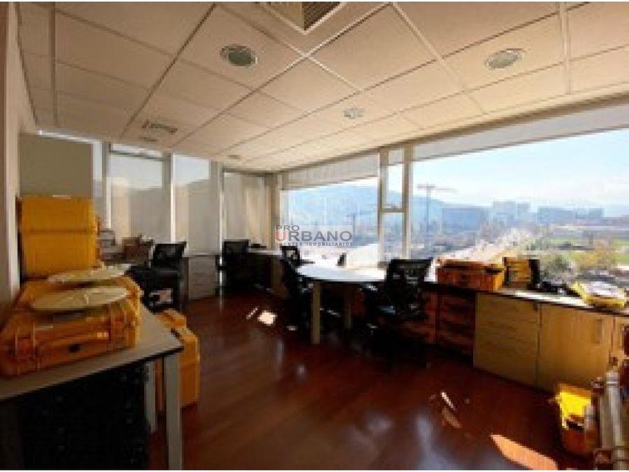 excelente oficina en arriendo en las condes completamente amoblada
