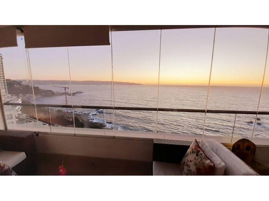 comodo depto con amplia vista al mar
