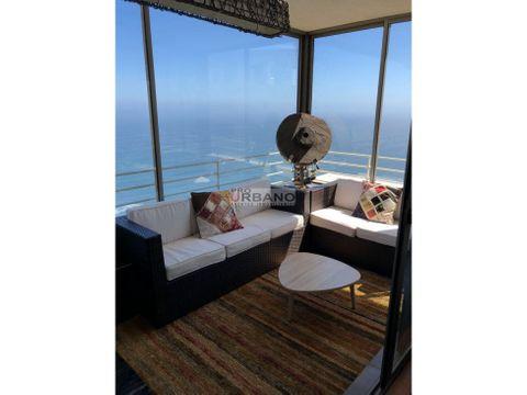 vista panoramica al mar comodo depto en costa de montemar