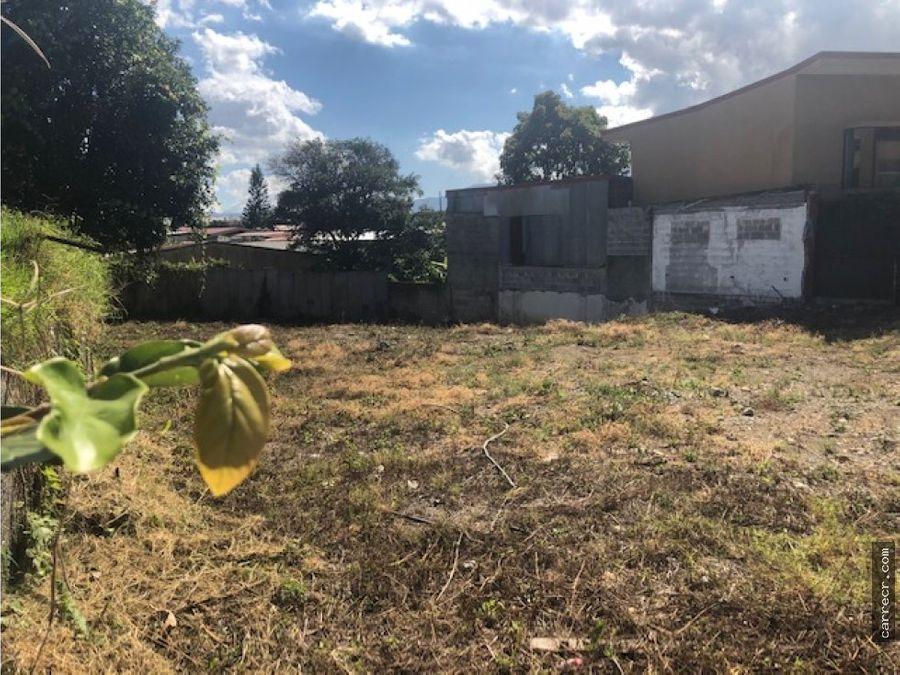 terreno en venta en sabanilla montes de oca