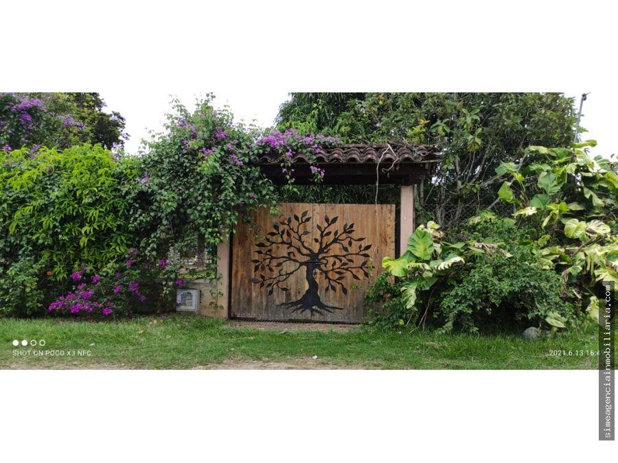 se vende casa campestre en huasano