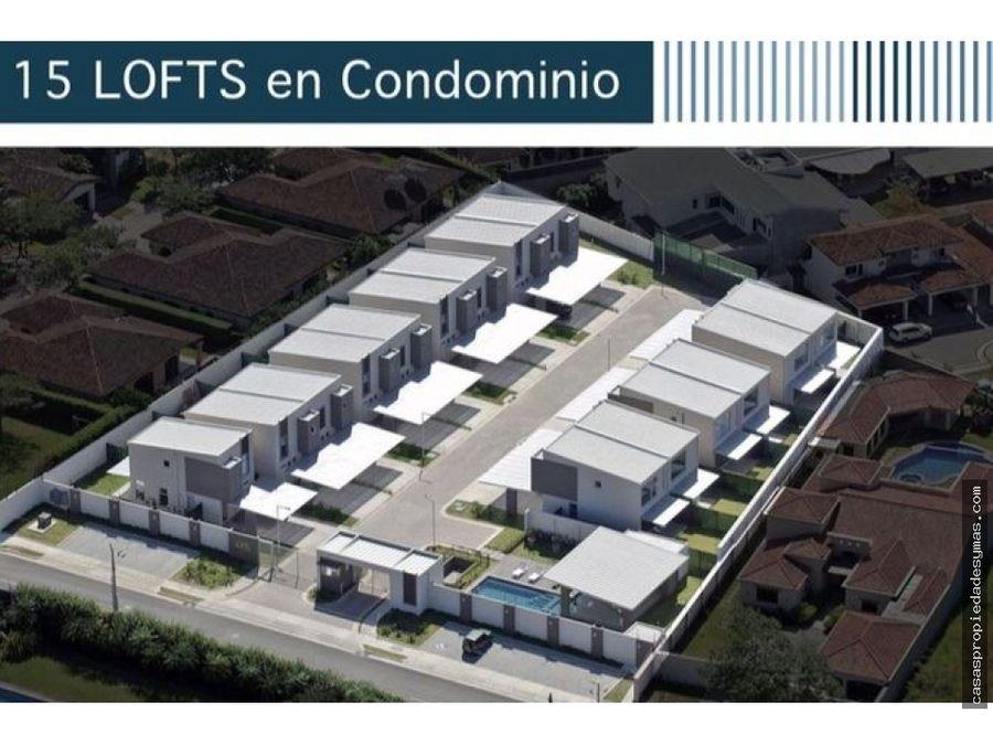 venta de moderno loft en condominio en lindora