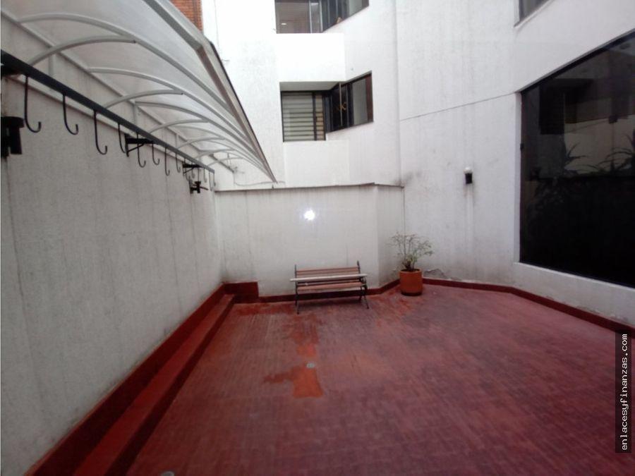 venta apto bogota santa barbara con terraza de 30 metros