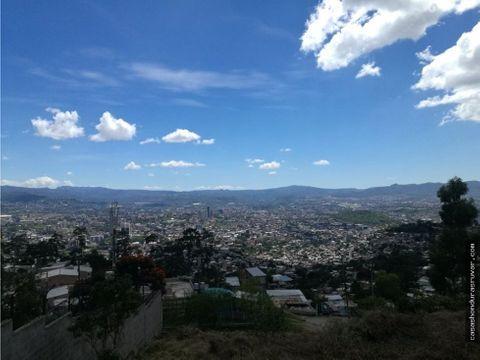 terreno en venta subida al hatillo tegucigalpa