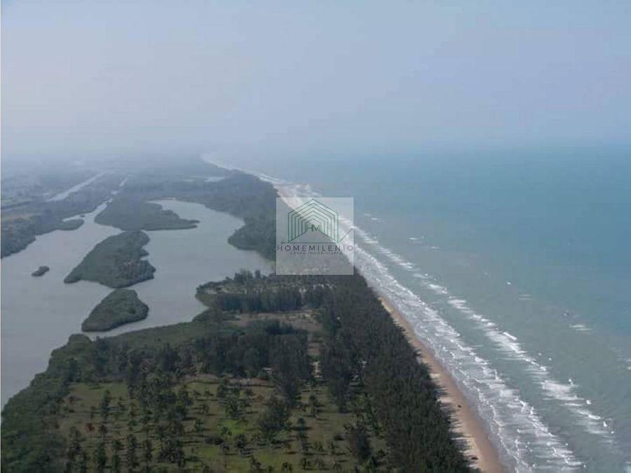 venta terreno fantastico entre mar y rio