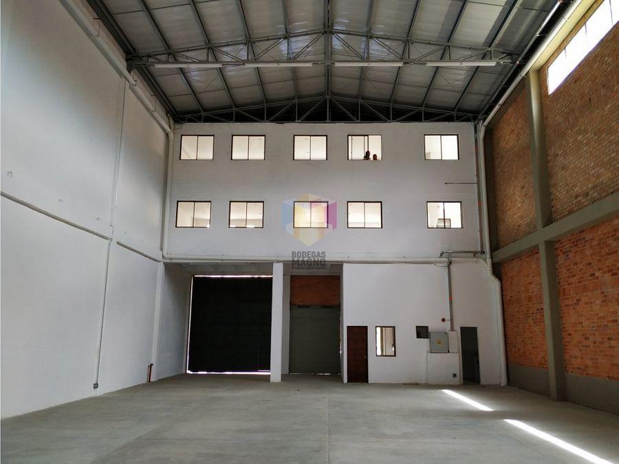 bodega arriendo girardota 616m2 parque industrial