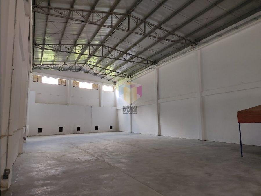 bodega arriendo la tablaza 1717 m2 parque industrial medellin