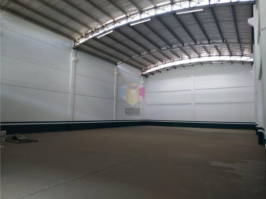 bodega arriendo girardota 975m2 parque industrial medellin