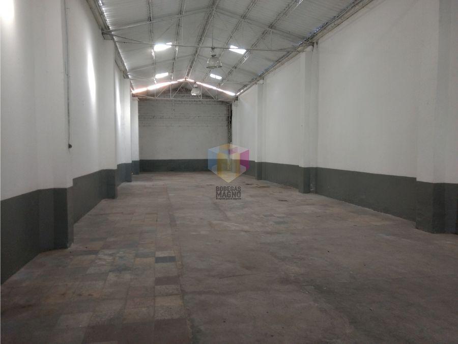 bodega para arriendo 400m barrio colombia medellin